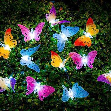 Năng lượng mặt trời bướm chuỗi ánh sáng