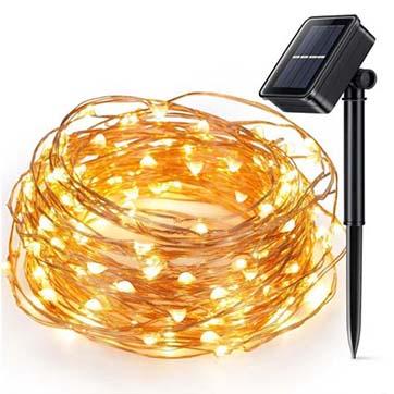 năng lượng mặt trời dây đồng chuỗi ánh sáng